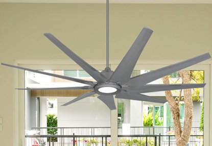Liberator 72 in. WiFi Enabled Indoor/Outdoor Brushed Nickel Ceiling Fan With 18W LED Array Light
