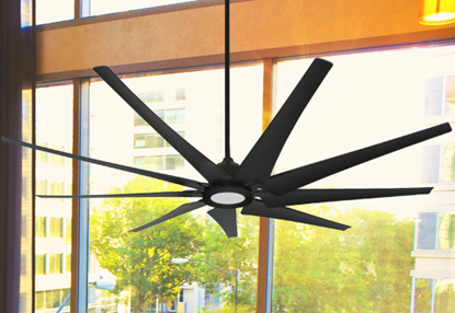 Liberator 82 in. WiFi enabled Indoor/Outdoor Oil Rubbed Bronze Ceiling Fan With 18W LED Array Light