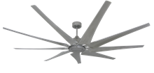 Picture of Liberator 82 in. WiFi Enabled Indoor/Outdoor Brushed Nickel Ceiling Fan