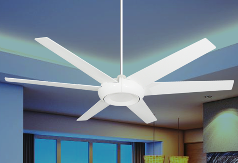 Picture of Elegant 60 in. Indoor/Outdoor Pure White Ceiling Fan