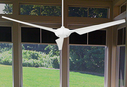 Ion 76 in. Indoor/Outdoor Pure White Ceiling Fan with Remote Control