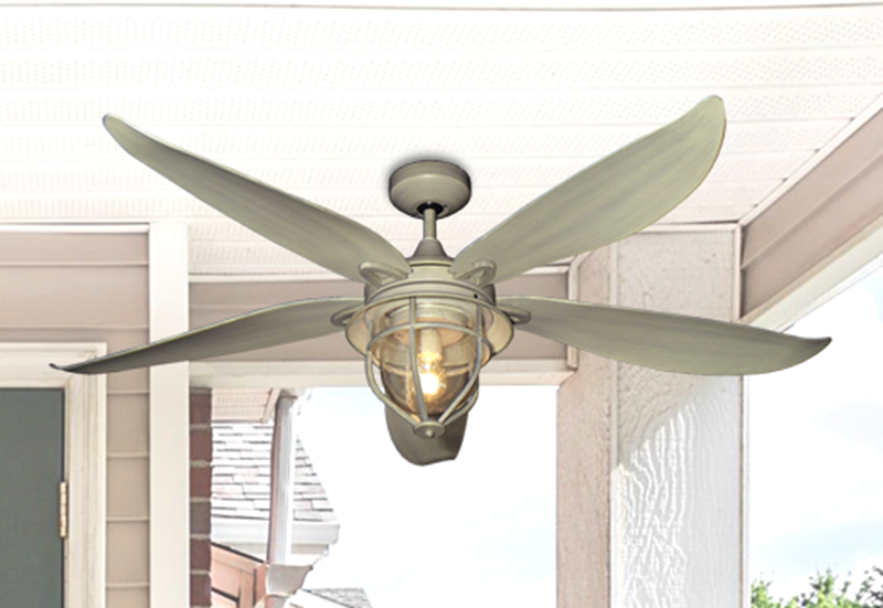 Picture of St. Augustine 59 in. Indoor/Outdoor Driftwood Ceiling Fan with Light