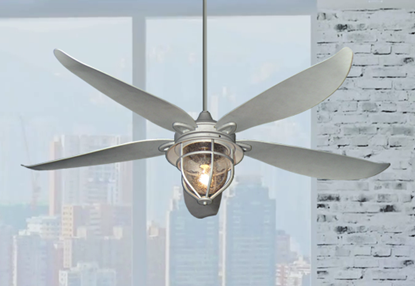 Picture of St. Augustine 59 in. Indoor/Outdoor Galvanized Look Ceiling Fan with Light