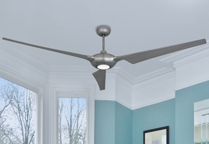 Picture of Ion 76 in. WiFi Enabled Indoor/Outdoor Brushed Nickel Ceiling Fan with 15W LED Light and Remote Control