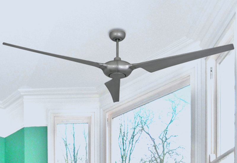 Ion 76 in. WiFi Enabled Indoor/Outdoor Brushed Nickel Ceiling Fan with Remote Control