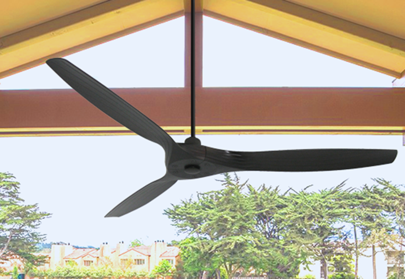 Solara 60 in. WiFi Enabled  Indoor-Outdoor Oil Rubbed Bronze Ceiling Fan with Remote