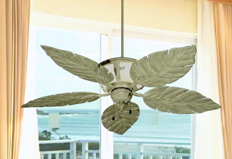 """52"""" Venetian Lighted Ceiling Fan in Driftwood"""