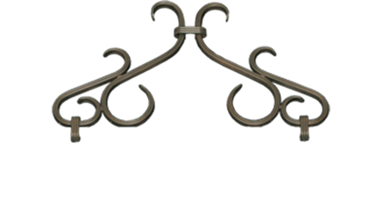 Picture of Twin Star Scroll in Oil Rubbed Bronze
