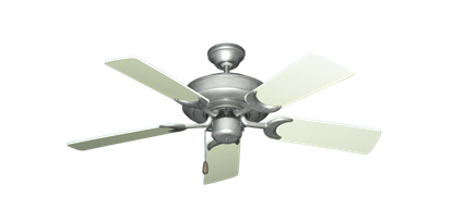 """Picture of Raindance Brushed Nickel BN-1 with 44"""" Antique White Blades"""