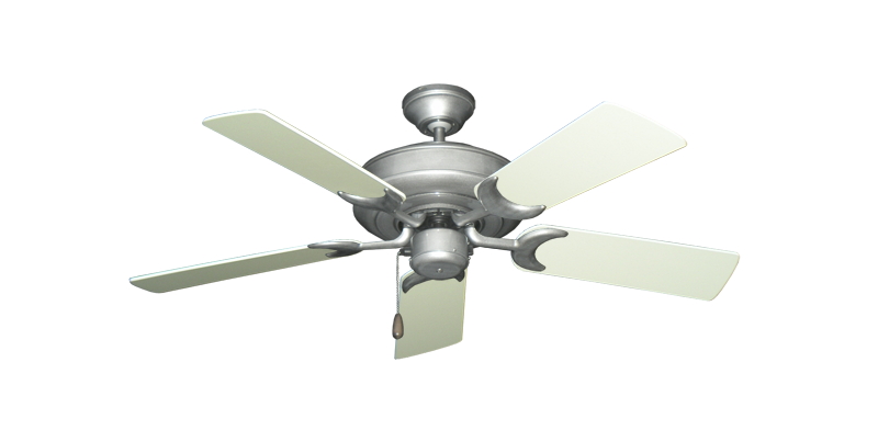 "Picture of Raindance Brushed Nickel BN-1 with 44"" Antique White Blades"