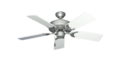 """Picture of Raindance Brushed Nickel BN-1 with 44"""" Pure White Gloss Blades"""