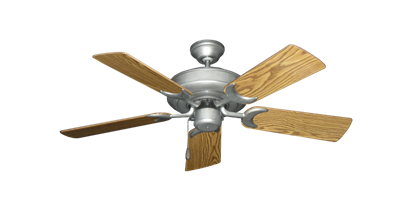 """Picture of Raindance Brushed Nickel BN-1 with 44"""" Oak Gloss Blades"""