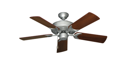 """Picture of Raindance Brushed Nickel BN-1 with 44"""" Walnut Blades"""