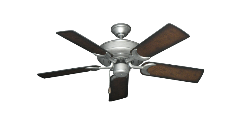 "Picture of Raindance Brushed Nickel BN-1 with 44"" Distressed Hickory Blades"