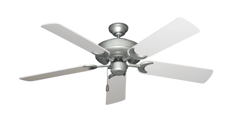 """Picture of Raindance Brushed Nickel BN-1 with 52"""" Pure White Blades"""