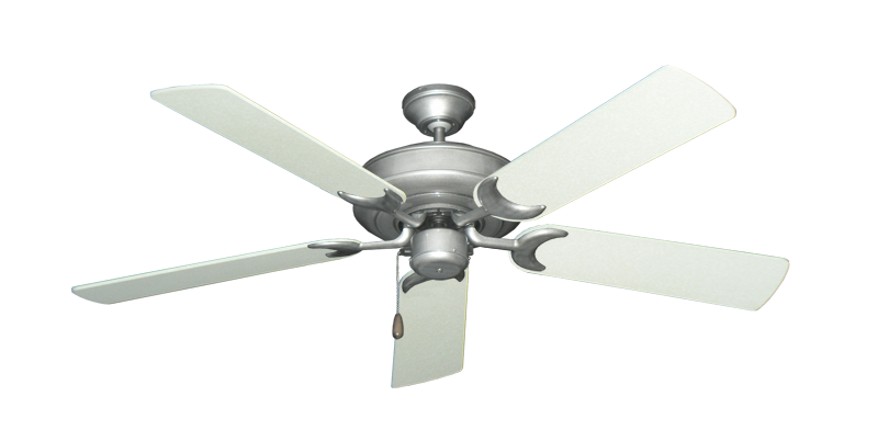 "Picture of Raindance Brushed Nickel BN-1 with 52"" Navajo White Blades"