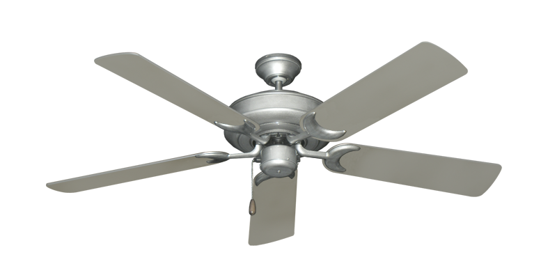 """Picture of Raindance Brushed Nickel BN-1 with 52"""" Satin Steel (painted) Blades"""