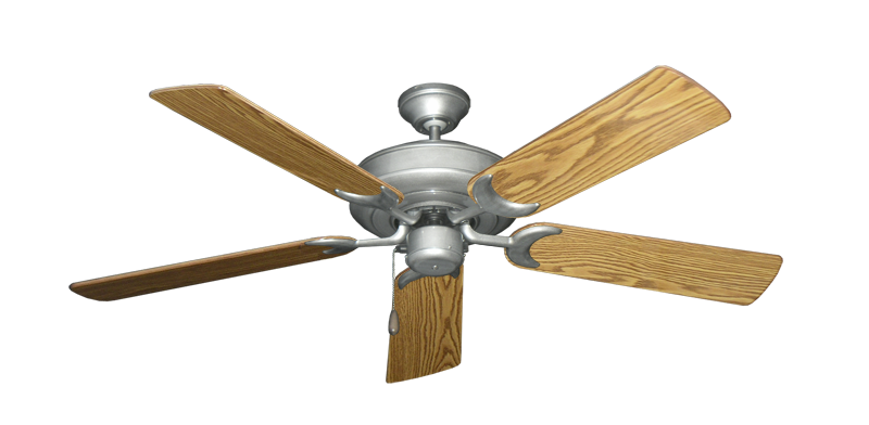 "Picture of Raindance Brushed Nickel BN-1 with 52"" Oak Gloss Blades"