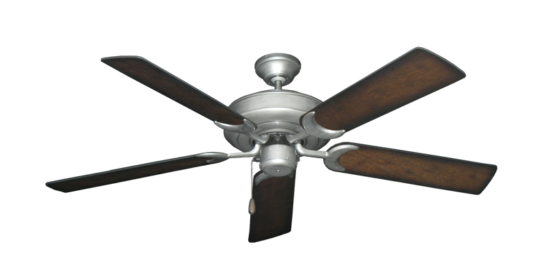 "Picture of Raindance Brushed Nickel BN-1 with 52"" Distressed Hickory Blades"