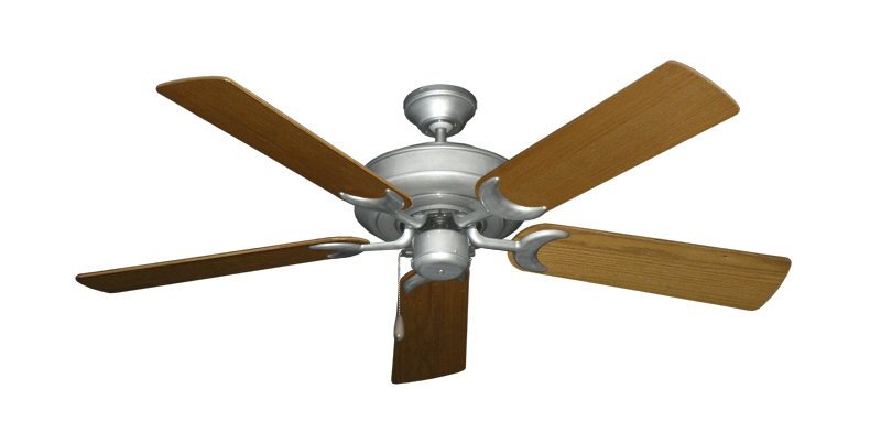 "Picture of Raindance Brushed Nickel BN-1 with 52"" Light Oak Blades"