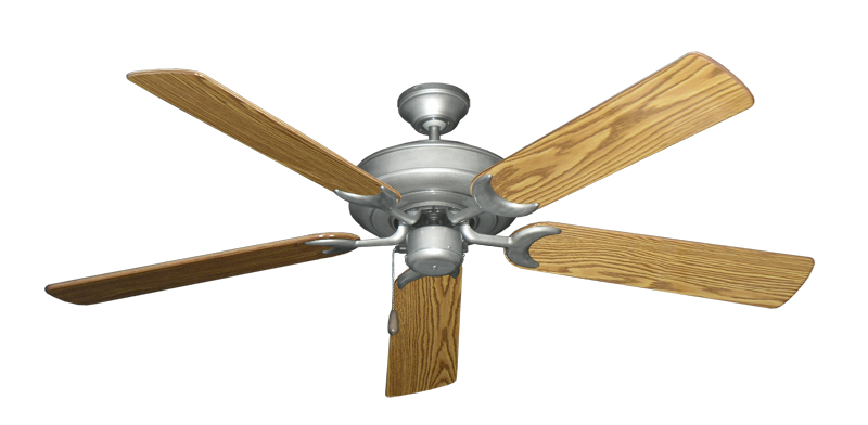 "Picture of Raindance Brushed Nickel BN-1 with 56"" Oak Gloss Blades"