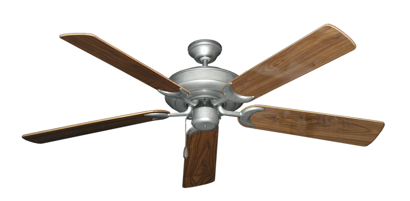"""Picture of Raindance Brushed Nickel BN-1 with 56"""" Walnut Gloss Blades"""