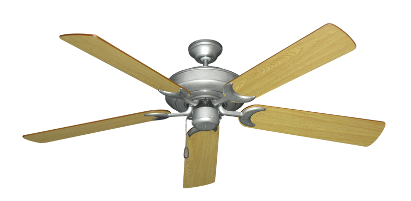 "Picture of Raindance Brushed Nickel BN-1 with 56"" Honey Oak Blades"
