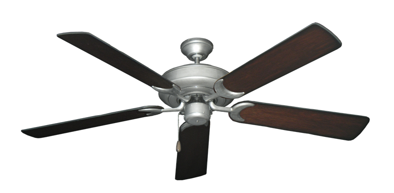 "Picture of Raindance Brushed Nickel BN-1 with 56"" Distressed Cherry Blades"