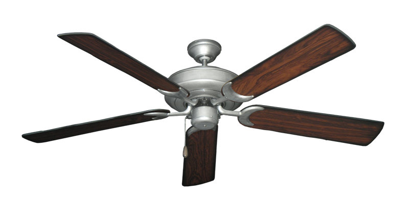 "Picture of Raindance Brushed Nickel BN-1 with 56"" Burnt Cherry Blades"