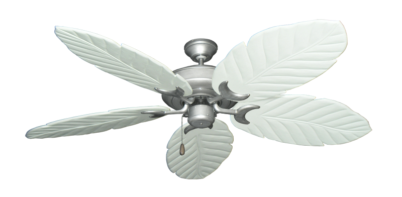 """Picture of Raindance Brushed Nickel BN-1 with 58"""" Series 100 Arbor Pure White Blades"""