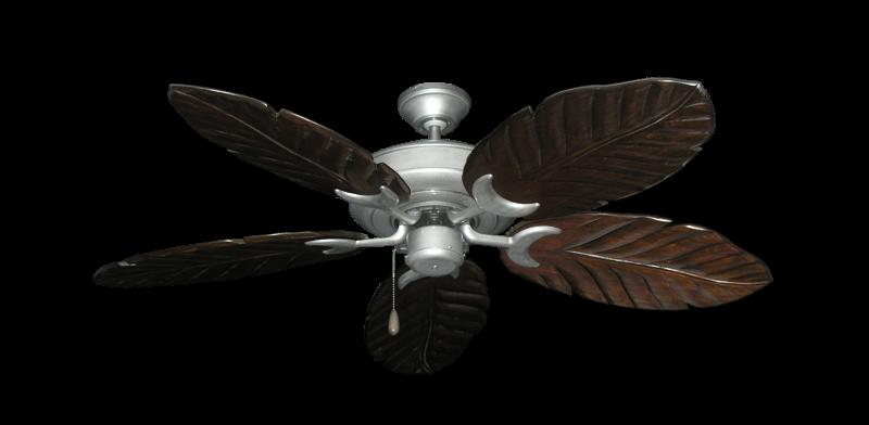 "Picture of Raindance Brushed Nickel BN-1 with 52"" Series 125 Arbor Dark Walnut Blades"