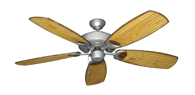 "Picture of Raindance Brushed Nickel BN-1 with 52"" Series 275 Arbor Bamboo Blades"