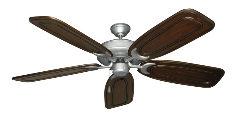 """Picture of Raindance Brushed Nickel BN-1 with 58"""" Series 800 Arbor Chestnut Blades"""