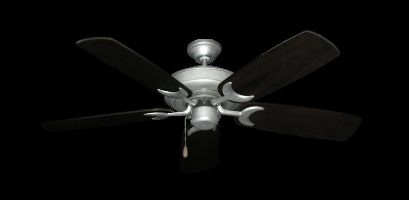 "Picture of Raindance Brushed Nickel BN-1 with 52"" Series 425 Arbor Dark Walnut Blades"