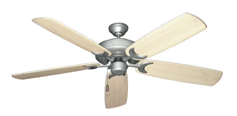 "Picture of Raindance Brushed Nickel BN-1 with 60"" Series 450 Arbor Whitewash Blades"