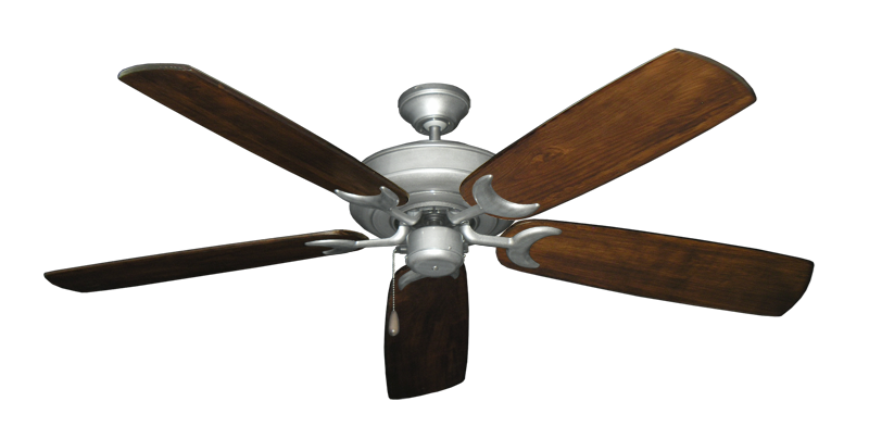 "Picture of Raindance Brushed Nickel BN-1 with 60"" Series 450 Arbor Dark Walnut Blades"