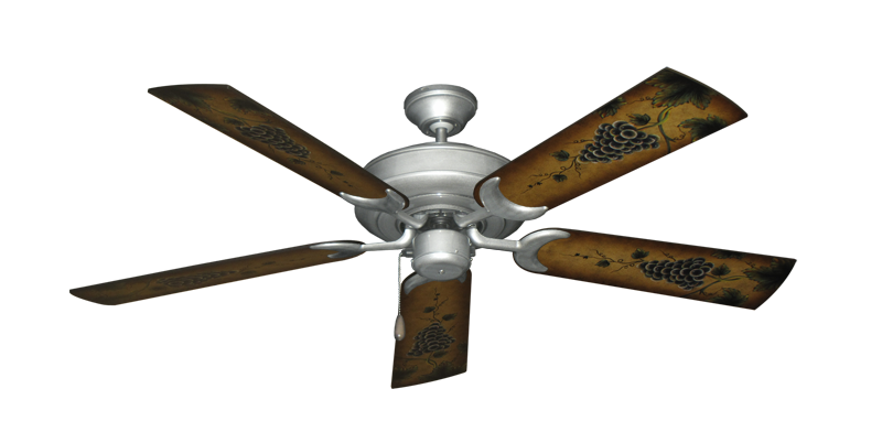 "Picture of Raindance Brushed Nickel BN-1 with 52"" Series 353 Arbor Grapes Blades"