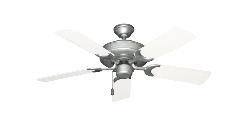 "Picture of Raindance Brushed Nickel BN-1 with 44"" Outdoor Pure White Blades"
