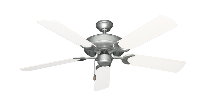 "Picture of Raindance Brushed Nickel BN-1 with 52"" Outdoor Pure White Blades"