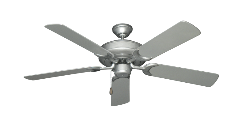"""Picture of Raindance Brushed Nickel BN-1 with 52"""" Outdoor Brushed Nickel Blades"""