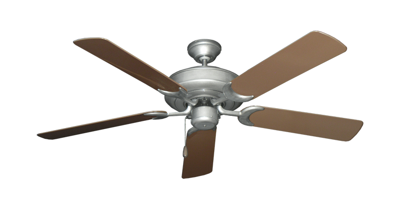 "Picture of Raindance Brushed Nickel BN-1 with 52"" Outdoor Brown Blades"