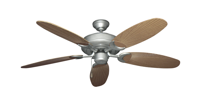 "Picture of Raindance Brushed Nickel BN-1 with 52"" Outdoor Leaf Tan Blades"