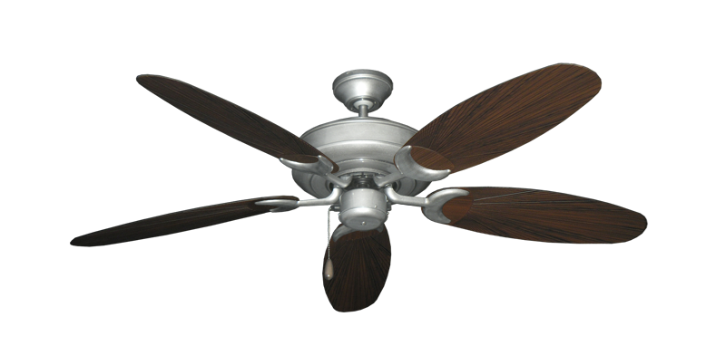 """Raindance Brushed Nickel BN-1 with 52"""" Outdoor Leaf Oil Rubbed Bronze Blades"""