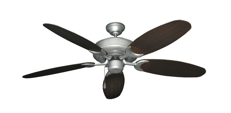 "Picture of Raindance Brushed Nickel BN-1 with 52"" Outdoor Wicker Oil Rubbed Bronze Blades"