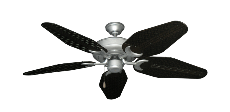 "Picture of Raindance Brushed Nickel BN-1 with 52"" Outdoor Weave Oil Rubbed Bronze Blades"