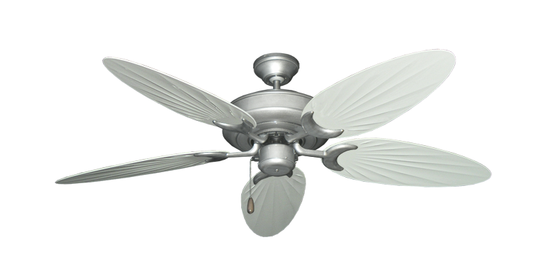 """Picture of Raindance Brushed Nickel BN-1 with 52"""" Outdoor Palm Pure White Blades"""