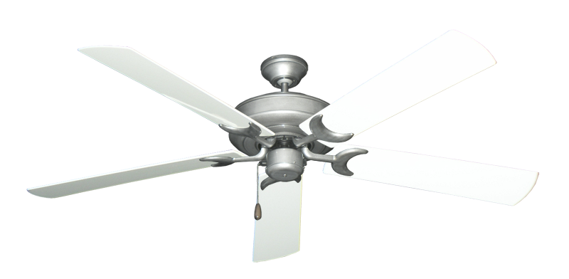 """Picture of Raindance Brushed Nickel BN-1 with 60"""" Outdoor Pure White Blades"""