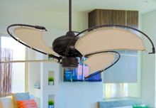 Picture of Voyage 40 in. Indoor/Outdoor Oil Rubbed Bronze Ceiling Fan with Khaki Fabric Blades