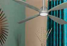 Ninja 56 in. Brushed Nickel Ceiling Fan with LED Light