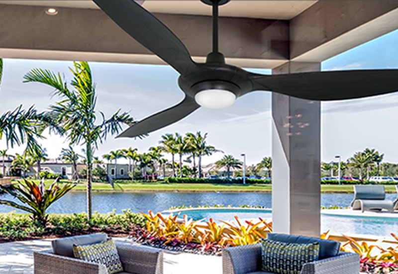 Vogue Plus 60 in. WiFi Enabled Indoor/Outdoor Oil Rubbed Bronze Ceiling Fan with LED Light